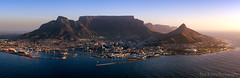 Table Mountain Aerial Sunset Panorama (Panorama Paul) Tags: panorama sunrise southafrica capetown aerialphotography tablemountain westerncape nikkorlenses nikfilters nikond800 wwwpaulbruinscoza paulbruinsphotography nicokohne