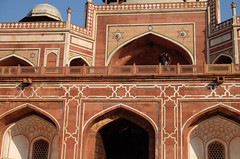 . (robbie ...) Tags: travel red india beautiful architecture photography design persian sandstone couple fuji patterns delhi tomb geometrical hindu emperor islamic selfie humayun mughal humayuns xt10
