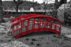 red bridge (boggled) Tags: devon dartmouth selectivecolour sonya5100