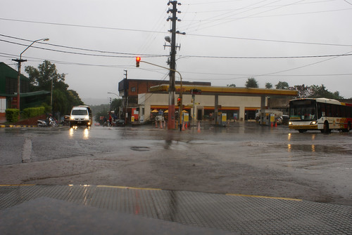 Very rainy Puerto Iguazú