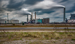 Maasvlakte Rotterdam (olafgroeneweg) Tags: longexposure sky cloud holland industry netherlands colors beautiful beauty clouds amazing rotterdam colorful view wind cloudy nederland f maasvlakte longexplosure zuidholland