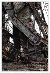 Fallen (Pro-Zak) Tags: abandoned industry newjersey waterfront decay steel prozak cable urbex arthurkill coaldumper timothyvogel