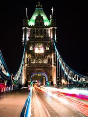 tower bridge at night (Daphne0507) Tags: city trip bridge england london tower night lumix view panasonic engeland londen citytrip gx7
