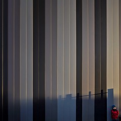 Catching the Light (Paul Brouns) Tags: light boy sunset shadow abstract netherlands lines vertical wall architecture person grey golden licht pattern shadows stripes gray posing shades business hour tiny area goldenhour architectuur poort almere muur paulbrouns paulbrounscom