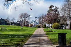 All quiet after an april fool's snow (kuntheaprum) Tags: snow flag malden aprilfool aprilsnow belrockpark