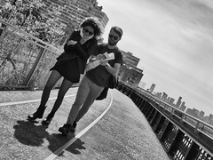 Spring Walk on the High Line (C@mera M@n) Tags: nyc newyorkcity people blackandwhite ny newyork monochrome outdoors us place unitedstates manhattan candid places highline newyorkphotography newyorkcityphotography