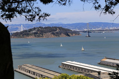 San Francisco Bay (Mark Birkle) Tags: ocean california bridge boats island bay pier photo san francisco view state image scenic picture sail