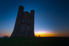 Sunrise at Broadway Tower (spiderstreaky) Tags: blue light red sky sun white abstract black blur green tower art english classic nature wet wall closeup museum breakfast clouds sunrise vintage fence dark season landscape climb countryside high nikon focus exposure frost dof village purple walk top wildlife hill broadway freezing cotswolds fresh steeple hills valley freeze fields british worcestershire footpath beacon rolling folly damp hillclimb drystone lightroom snowshill broadwaytower cotswoldway fishhill 500px dxooptics d7100 cotswoldedge