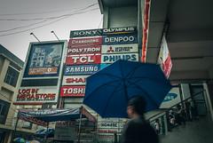 Ads. (Alleat) Tags: street city blue urban beautiful rain indonesia photography mess flickr moody cityscape artsy abc bandung glance flick braga baru feelings pasar