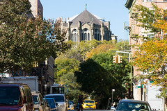 nyc - manhattan misc buildings 2015 16 (Doctor Casino) Tags: street newyorkcity trees church architecture manhattan cab taxi gothic overlooking revival