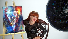Artist Sofia Goldberg. Bermuda triangle art (Sofia Metal Queen) Tags: fiction art painting goldberg triangle artist sofia space fineart science exotic galaxy bermuda performer esoteric