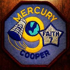 Mercury 9 Logo (Pennan_Brae) Tags: logo 60s mercury space astronaut nasa astronauts badge 1960s patch patches