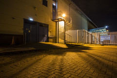 No Escape (georgehuthart) Tags: nightphotography canon spiral fire fireescape eos5d industrialbuildings nightshooters
