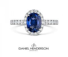 Sapphire Bling (dhjewellers) Tags: scotland edinburgh diamond proposal platinum weddingplanning threestone edinburghjewellers edinburghproposal