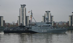 FGS Pegnitz M1090 (6) @ Gallions Reach 15-04-16 (AJBC_1) Tags: uk england london boat ship unitedkingdom military navy vessel riverthames nato warship minesweeper eastlondon gallionsreach mcv nikond3200 northwoolwich newham germannavy navalvessel londonboroughofnewham deutschemarine minehunter m1098 m1090 3minensuchgeschwader ensdorfclassminesweeper dlrblog ajc bundeswehrnavy fgspegnitz 3rdgermanminesweepingsquadron