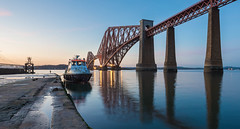 _DSC0775 (Bill Henderson Photography) Tags: bridge sunset water landscape scotland boat nikon fife rail forth d800 1424