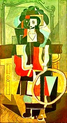 Girl with a hoop, 1919 // by Pablo Picasso (mike catalonian) Tags: portrait france painting children spain fulllength 1919 1910s pablopicasso cubism