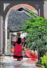 Posing for photos: Minority costumes (Bruno Zaffoni) Tags: china guizhou cina qingyan