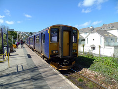 150216 Carbis Bay (Marky7890) Tags: station train cornwall railway gwr sprinter dmu carbisbay fgw class150 stivesbayline 150216 2a24