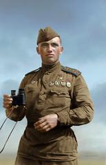 Squadron commander of the 131 fighter aviation regiment, Hero of the Soviet Union Dmitry Nazarenko (klimbims) Tags: wwii ww2 pilot heroofthesovietunion squadroncommander  fighteraviationregiment   4