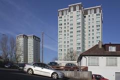 Coltswood Court & Redbridge Court (SpaceLightOrder) Tags: scotland high postmodern modernism flats pomo highrise housing rise sunnyside towerblock coatbridge recladding reclad northlanarkshire