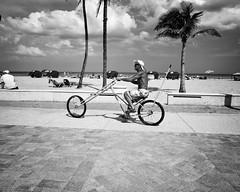 Low Rider Bike (35mmStreets.com) Tags: street city portrait urban bw 35mm photography blackwhite nikon df little florida miami sony havana kittens d750 nik southbeach dsc sobe lightroom washingtonstreet d600 collinsave d4s silverefex 35mmstreets rx1rm2