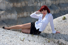 DCS_0022 (dmitriy1968) Tags: portrait cliff nature girl beautiful erotic outdoor wife quarry    sexsual