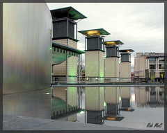 Millenium Square (Rob McC) Tags: city water architecture reflections bristol twilight outdoor dusk symmetry buildins featrures