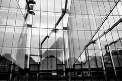 Seattle Center (vaneebs) Tags: seattle street travel blackandwhite bw white black window monochrome architecture buildings washington human