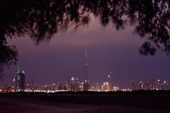 Down Town Dubai ( MBS-.. ) Tags: sunset sky cloud tree evening nikon dubai outdoor overcast khalifa burj d7200