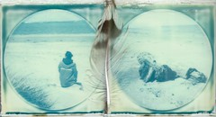 <3 (marion (milky soldier)) Tags: wood sea film beach k collage polaroid sx70 sand diptych holidays feather ishootfilm instant normandie honfleur normandy theimpossibleproject makerealphotos