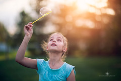 (Rebecca812) Tags: sunset portrait sunlight girl childhood canon wonder freedom child happiness bubble catch carefree blowingbubbles wellbeing bubblewand vitality rebecca812