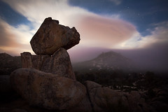 Balanced Rock (DanB.) Tags: california longexposure camping sky colors fog night stars evening rocks backpacking astrophotography granite pacificcresttrail anzaborrego anzaborregodesertstatepark clouda clevelandnationalforest
