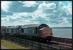 6K41 . 27th Llanfairfechan (peterdouglas1) Tags: dir fearless llanfairfechan class37 directrailservices class68 6k41 northwalescoastrailway valleyflasks