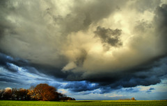 Sun and rain (Neal J.Wilson) Tags: trees storm rain weather clouds denmark landscapes spring nikon fields nordic scandinavia stormclouds d3200 danishlandscapes