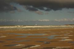 Belgian coast (Natali Antonovich) Tags: sea sky reflection nature landscape boat horizon northsea parallels oostende seashore seasideresort belgiancoast seaboard