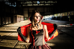 DSC_6681 (Marco Frig Photographer) Tags: girls red urban black halloween work project dark costume nikon artist factory vampire story horror diaries vampiri