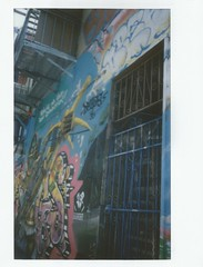 alley in the mission (kristen cynthia) Tags: california summer streetart graffiti alley sanfran sanfransisco instantphotography themissiondistrict fujifilminstax