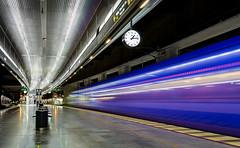 Pagatag i Malmo (Olderhvit) Tags: travel train photography long exposure sweden malmoe lighttrails malmö malmo tåg pågatåg långexponering framingthestreet olderhvit