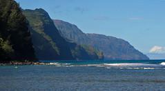Na Pali Coast from Ke'e Beach (Mike Dole) Tags: hawaii kauai keebeach napalicoast