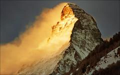 The early bird  gets the.....:))) (Katarina 2353) Tags: morning winter light mountain holiday snow alps film landscape nikon peak zermatt matterhorn katarinastefanovic katarina2353