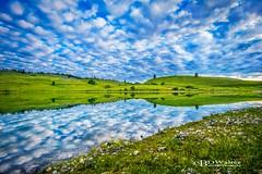 _BW25384-MarquartMorning (Bruce Walter) Tags: morning lake reflection clouds sunrise reflections landscape calming calm serene pristine marquart merrittbc destinationbc lundbombc