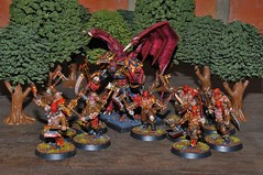 Bloos Reavers and Daemon Prince (Giovanni V.) Tags: miniatures blood prince mini games age workshop demon warhammer gw daemon reavers sigmar