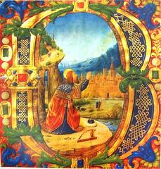 "Salmo 1, iniziale B ""Beatus"" (alessio_bacci) Tags: harp psalm kingdavid"