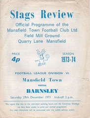 1973-74 Mansfield Town v Barnsley (andyhorsfield63@gmail.com) Tags: football mansfield barnsley programme footballprogramme mansfieldtown barnsleyfc barnsleyfootballclub