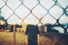 Catch Me, I'm Falling (Louis Dazy) Tags: portrait film analog 35mm photography exposure head grain off double 100 pushed grillage dreux ektar surimpression