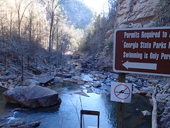 Tallulah Gorge State Park Rabun County Georgia (BenThomas1210) Tags: park county bridge trees nature water tallulah creek river georgia landscape waterfall photographer state outdoor riverbed gorge mountainside rabun