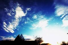 Sky (sarabeckcostanzo) Tags: blue sky nature clouds soleil ciel nuage couchdesoleil