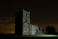 Knowlton by night (Mark_Kendrick_Photography) Tags: lighting light church night painting stars ruins long exposure flash creative hampshire medieval dorset knowlton curch lighing