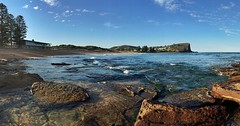 Afternoon beach walk (NinianLif) Tags: panorama beach northernbeaches avalonbeach iphoneography iphone6 instagramapp